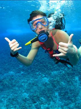 SNUBA diver