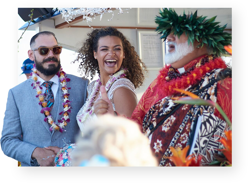 Private Event Wedding Charter on the Top Maui Adventure Boat Cruise.