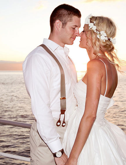 Wedding couple on Leilani Private Charter