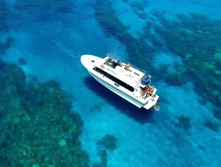 Leilani yacht aerial photo