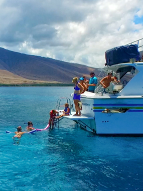 Top Maui Hawaii Private Snorkel Boat Charter and Adventure Cruise.