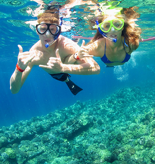 Couple Snorkeling in Maui Hawaii