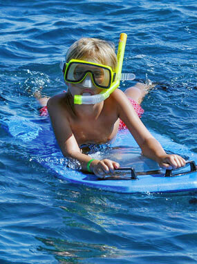 Kid Snorkeling at Molokini Crater