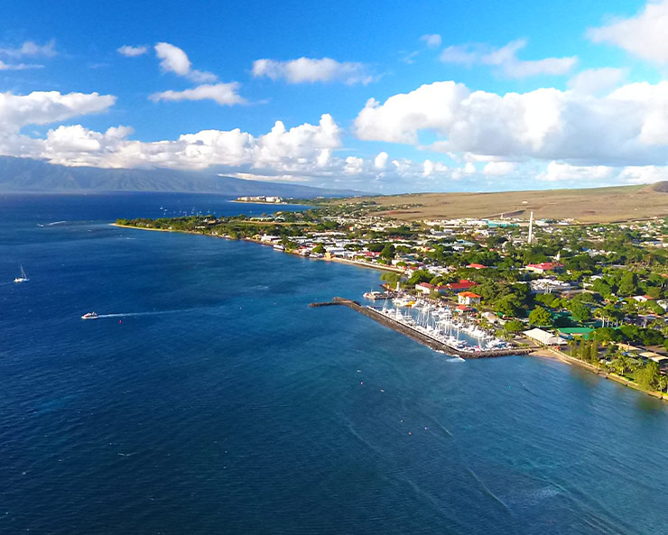Aerial view of Lahaina snorkeling spot
